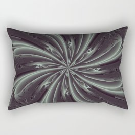 Out of the Darkness Fractal Bloom Rectangular Pillow