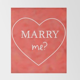 Valentines Day Marry Me Throw Blanket