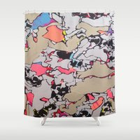 milky way Shower Curtains featuring Milky Way by blair__berger