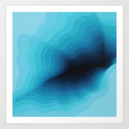 Cubed Glacier III Art Print