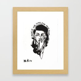 now is the time  Framed Art Print