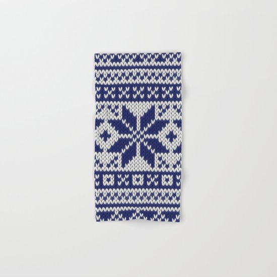 Winter knitted pattern 5 Hand & Bath Towel