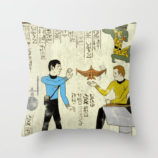 Hero-glyphics: Prime Directive Throw Pillow
