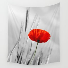 Poppy Red 070 Wall Tapestry