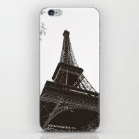 eiffel iPhone & iPod Skins featuring eiffel by samantha lawson