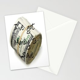 Money to Save (Law of Attraction Affirmation) Stationery Cards