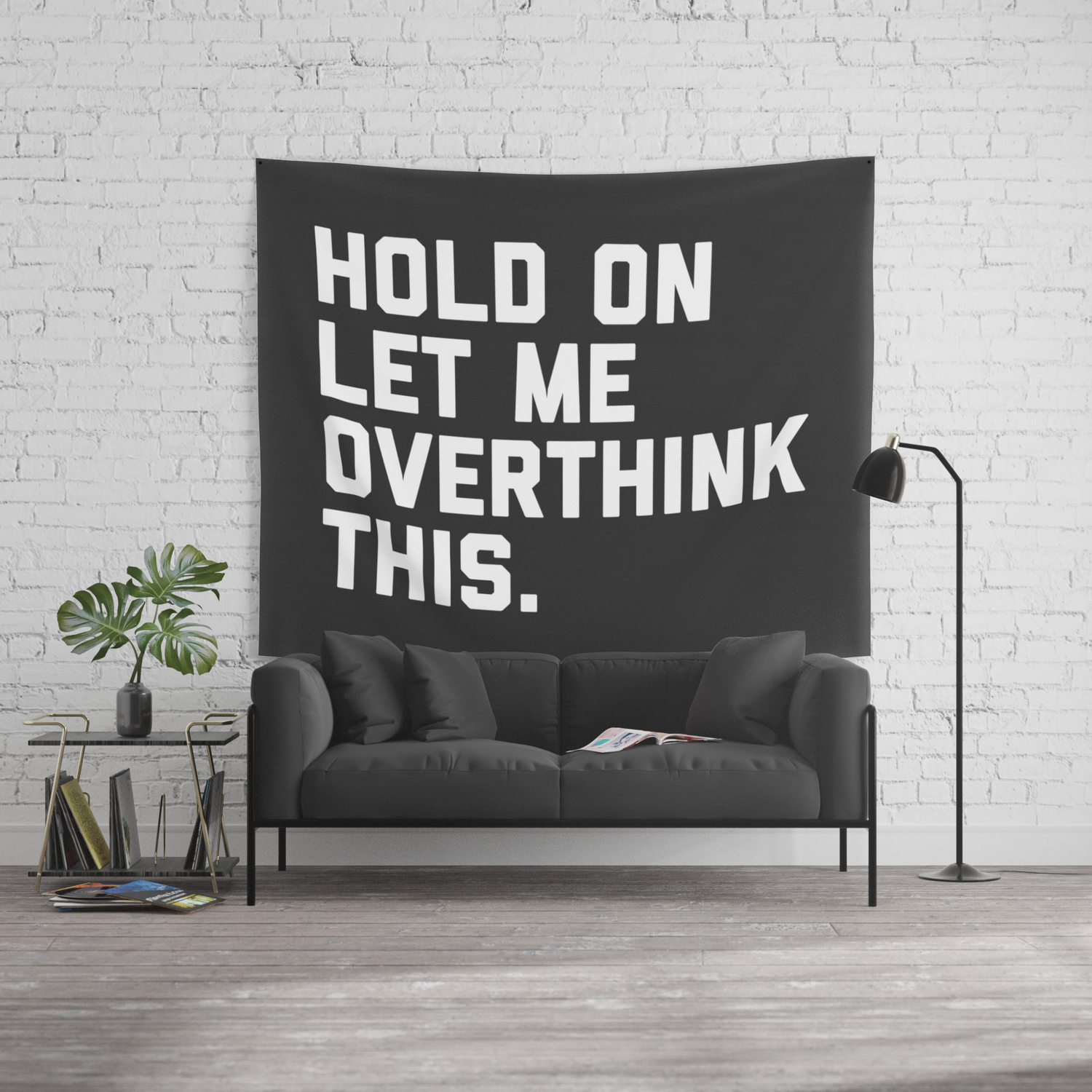 c9f3e6f63 Overthink This Funny Quote Wall Tapestry by envyart | Society6