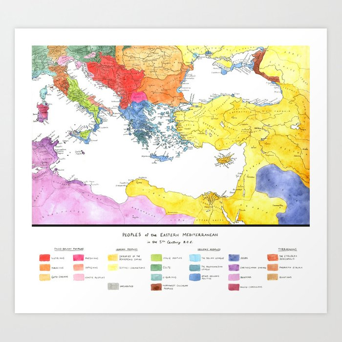 The Ancient Mediterranean Art Print by jerrywilson | Society6