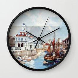 Norfolk Vintage Travel Poster Wall Clock