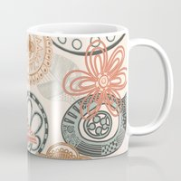 doodle Mugs featuring doodle  by Ancello