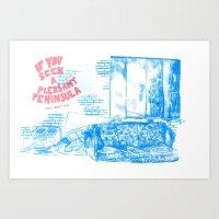 michigan Art Prints featuring Michigan by Sleepwalkers