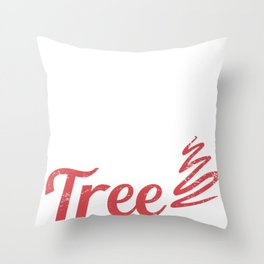 Smokin' Hot Austrian Under Christmas Tree Throw Pillow