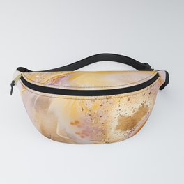 Modern Blush and gold Agate Fanny Pack
