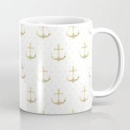 Golden Anchors Coffee Mug