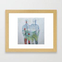 Same story diferent cities Framed Art Print