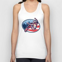 snowboard Tank Tops featuring American Snowboarder Jumping Snowboard Retro by patrimonio