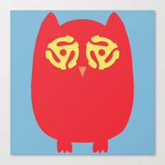 Owl 45s Canvas Print