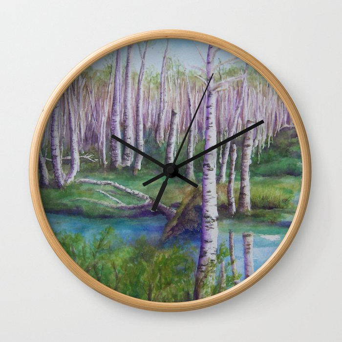 Crossing the Swamp WC151101-12 Wall Clock