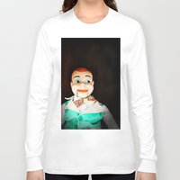creepy Long Sleeve T-shirts featuring Creepy Dummy by Colleen Farrell