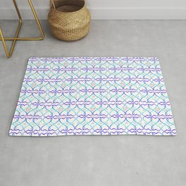 Pink and blue heart Rug