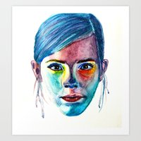 emma watson Art Prints featuring Emma Watson by Stella Joy