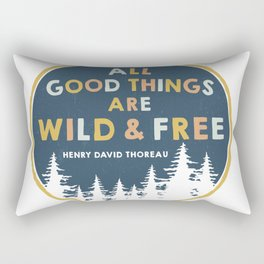 Wild and Free Quote Rectangular Pillow