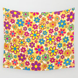 Bright Flowers Wall Tapestry