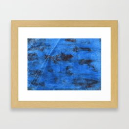 Bright navy blue abstract watercolor Framed Art Print