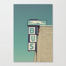 Greyhound Bus Sign Canvas Print