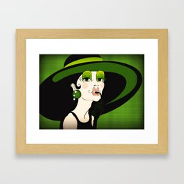 Miss Holly goes lightly Framed Art Print