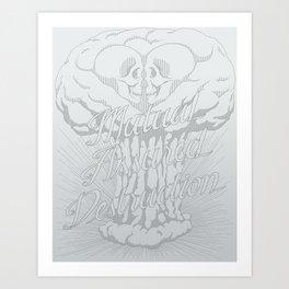 M.A.D. (gray) Art Print