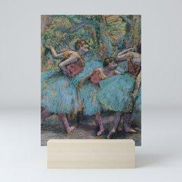 Edgar Degas - Three Dancers (Blue Tutus, Red Bodices) Mini Art Print