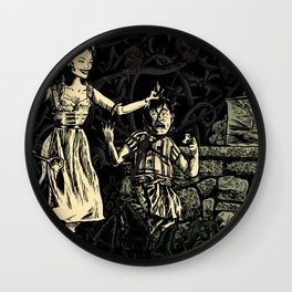 Hansel and the Witch Wall Clock