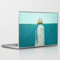 the last unicorn Laptop & iPad Skins featuring The Whale  by Terry Fan