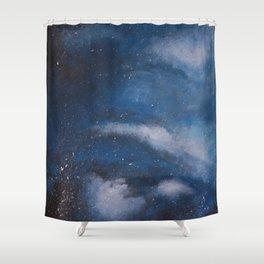 Abstract Night Skye Shower Curtain