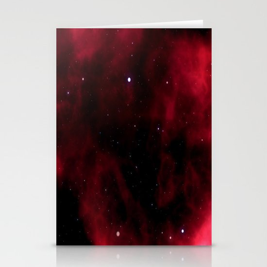 Nebula Red Stationery Cards
