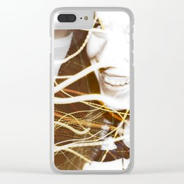 Smiles and Light - Light Painting Clear iPhone Case