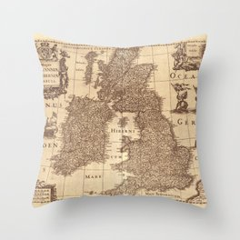 Map Of Great Britain 1631 Throw Pillow