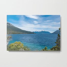Beautiful Mountain and Lake Landscape Metal Print