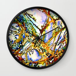 Opalesque Gemstones Abstract Wall Clock