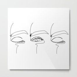 Line eyes Metal Print