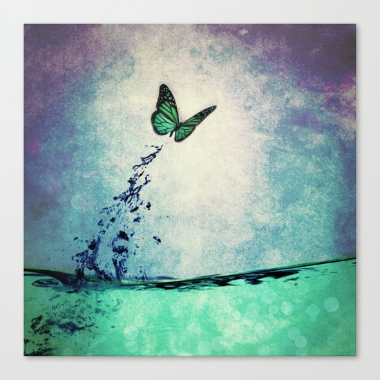 Waterfly Canvas Print