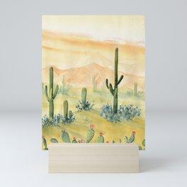 Desert Sunset Landscape Mini Art Print