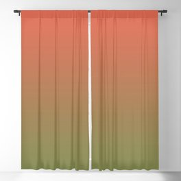 Pantone Living Coral & Turtle Green Gradient Ombre Blend Blackout Curtain
