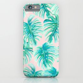 Paradise Palms Blush iPhone Case