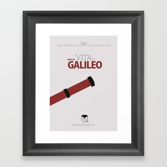 Life of Galilei - My Book Cover Framed Art Print