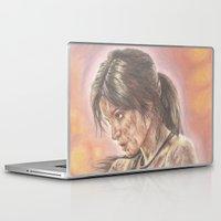 lara croft Laptop & iPad Skins featuring Miss Croft by JadeJonesArt