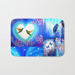 Blue designs Bath Mat