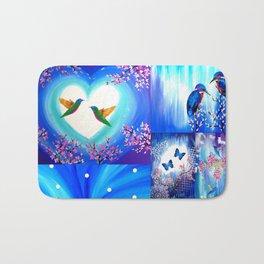 Blue designs Bath Mat