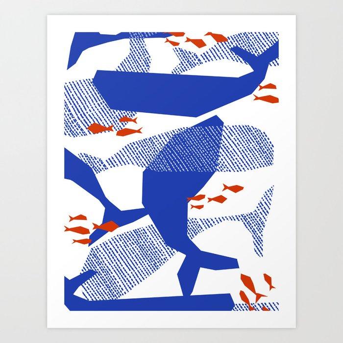 happy whales Art Print